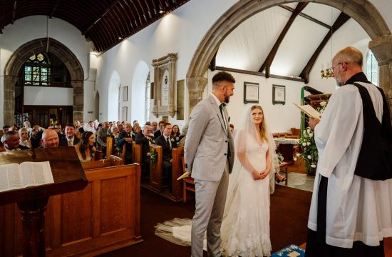 Ceremony at Kenwyn Parrish Church in Cornwall